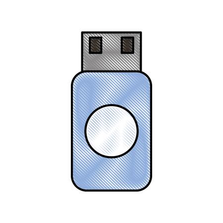 Illustrazione per usb flash drive data storage device concept web - Immagini Royalty Free