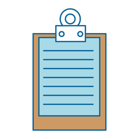 Illustration pour clipboard document isolated icon vector illustration design - image libre de droit