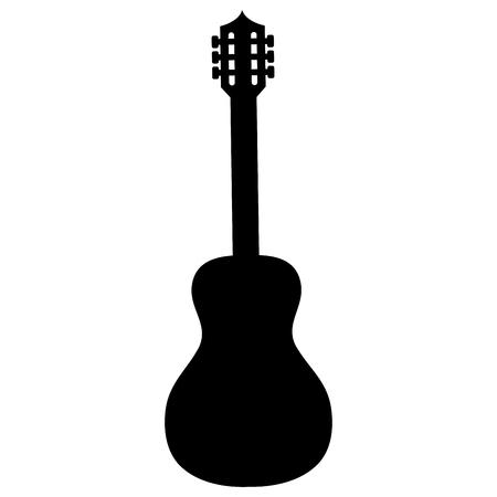 Illustration pour guitar instrument isolated icon vector illustration design - image libre de droit