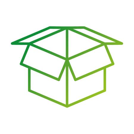 Illustration pour open cardboard box safety concept icon vector illustration - image libre de droit