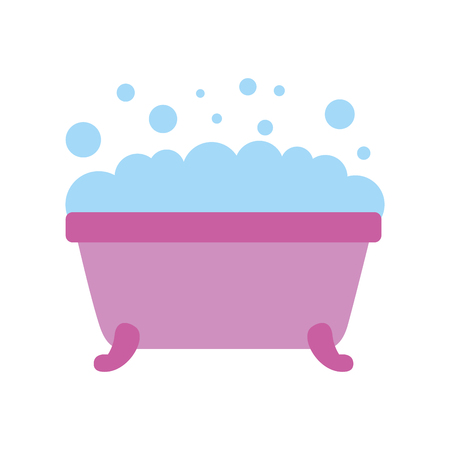 Illustration pour Bathtub clean hygiene interior ceramic icon - image libre de droit