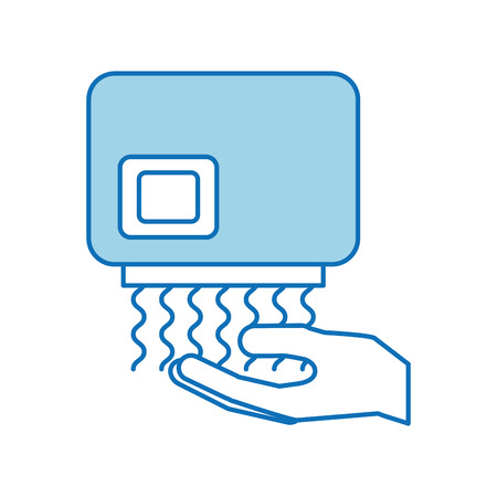 Ilustración de Hand dryer automatic clean equipment icon - Imagen libre de derechos