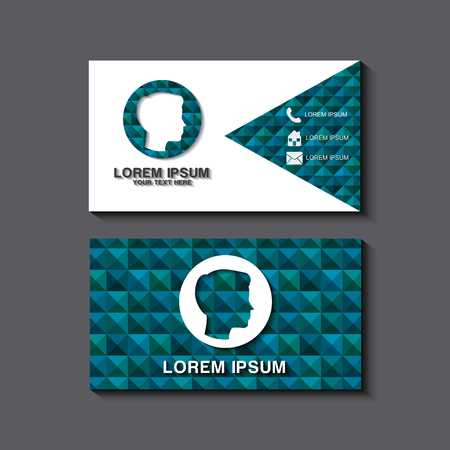 Illustration for business card set template for identity corporate style vector illustration - Royalty Free Image