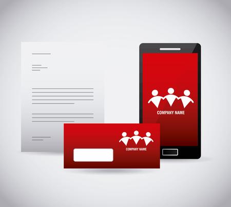 Ilustración de corporate identity stationery template design vector illustration - Imagen libre de derechos