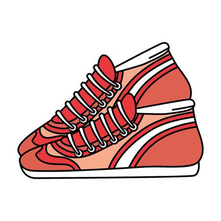 Ilustración de sport tennis shoes isolated icon vector illustration design - Imagen libre de derechos