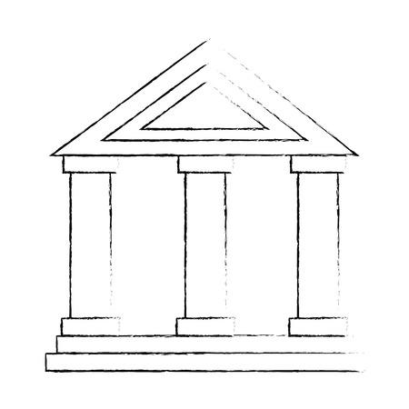 Ilustración de building with columns icon vector illustration design - Imagen libre de derechos
