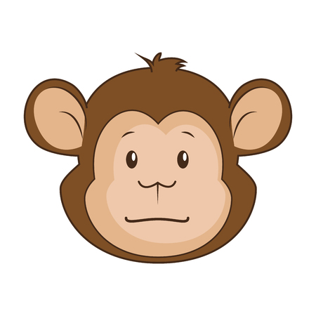 Ilustración de cute monkey character icon vector illustration design - Imagen libre de derechos