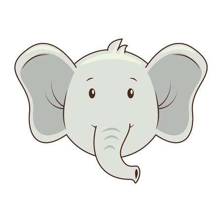 Ilustración de cute elephant character icon vector illustration design - Imagen libre de derechos