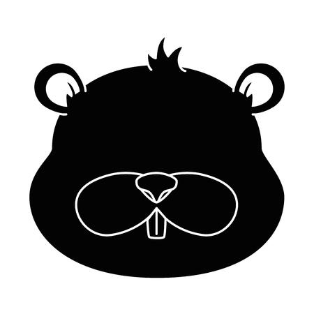 Ilustración de cute beaver character icon vector illustration design - Imagen libre de derechos