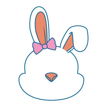 Ilustración de cute female rabbit character icon vector illustration design - Imagen libre de derechos