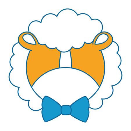 Ilustración de cute lion with bowntie character icon vector illustration design - Imagen libre de derechos