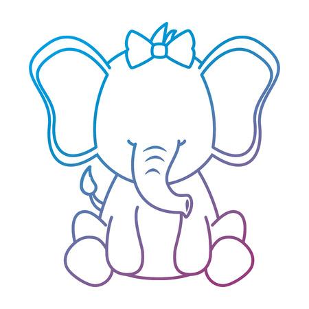 Ilustración de cute female elephant character icon vector illustration design - Imagen libre de derechos