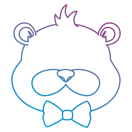 cute beaver with bowntie character icon vector illustration design