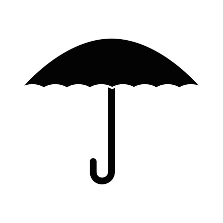 Illustration for umbrella protection isolated icon vector illustration design - Royalty Free Image