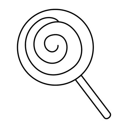 Illustration pour candy sweet isolated icon vector illustration design - image libre de droit