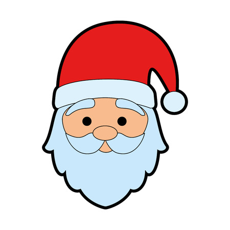 Illustration pour cute santa claus head character vector illustration design - image libre de droit