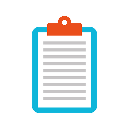 Ilustración de business clipboard paper report document vector illustration - Imagen libre de derechos