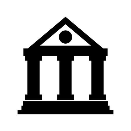 Ilustración de building bank financial money saving symbol vector illustration - Imagen libre de derechos