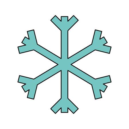 Illustration for christmas snowflake snow decoration winter symbol vector illustration - Royalty Free Image