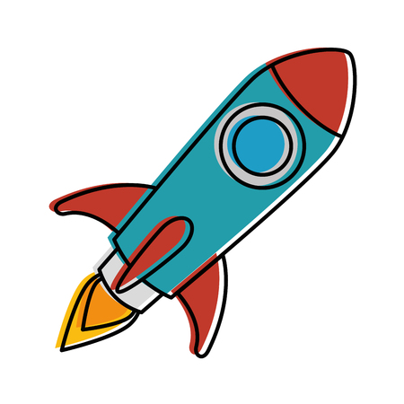 Illustration for Rocket launcher isolated icon vector illustration design. - Royalty Free Image