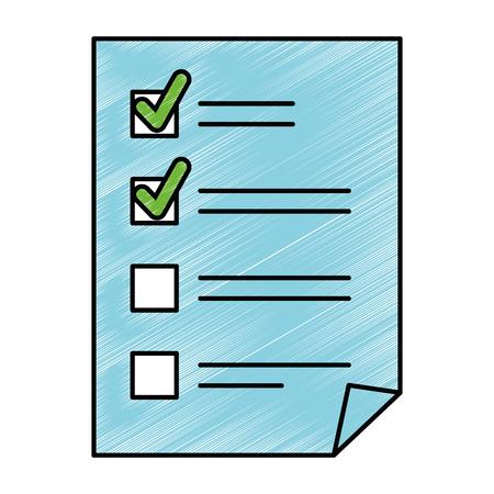 Photo pour paper document checklist icon vector illustration design - image libre de droit