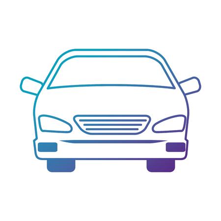 Illustration pour car vehicle isolated icon vector illustration design - image libre de droit
