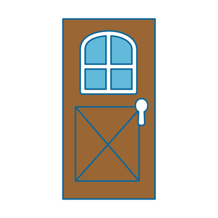 Illustration for house door isolated icon vector illustration design - Royalty Free Image