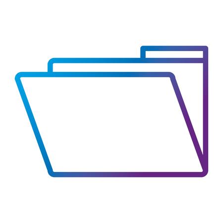 Illustration pour folder document isolated icon vector illustration design - image libre de droit