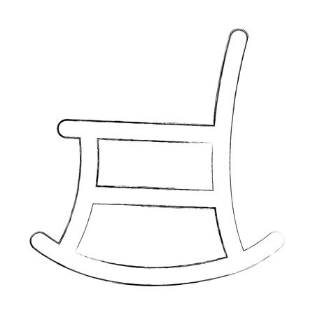 Illustration pour rocking chair isolated icon vector illustration design - image libre de droit