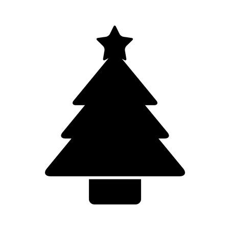 Illustration for christmas tree pine decoration ornament design vector illustration - Royalty Free Image
