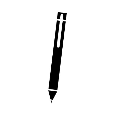 Illustration pour dark pen for writing letter supply object vector illustration - image libre de droit