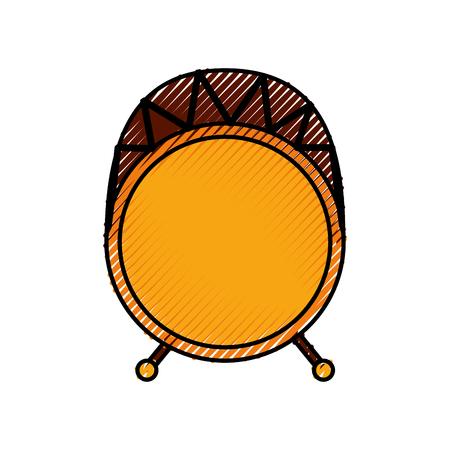 Ilustración de drum bass music top view icon vector illustration - Imagen libre de derechos