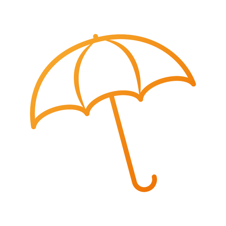 Illustration pour umbrella rainy season protection accessory vector illustration - image libre de droit