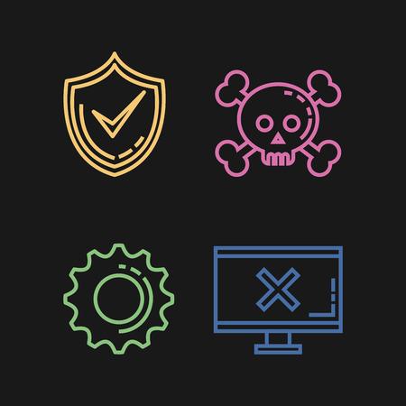Illustration pour Informatic security set icons vector illustration design - image libre de droit