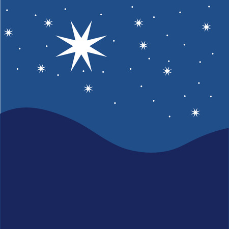 Illustration for Stars on blue striped background. Festive pattern great for winter or christmas themes. vector file included - Royalty Free Image