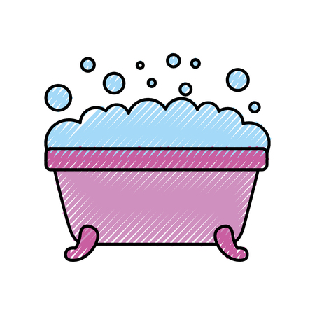 Illustration for bathtub clean hygiene interior ceramic icon vector illustration - Royalty Free Image