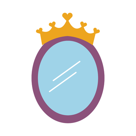 Ilustración de crown mirror princess decoration accessory vector illustration - Imagen libre de derechos