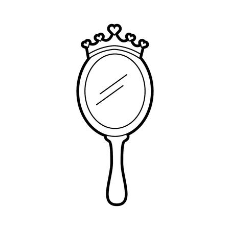 Ilustración de crown princes magical mirror with hearts vector illustration - Imagen libre de derechos
