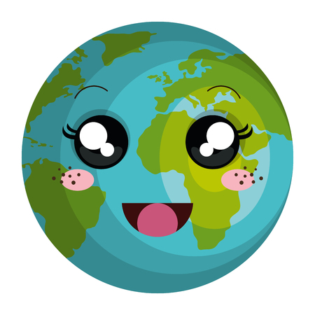 Illustration pour planet earth character vector illustration design - image libre de droit