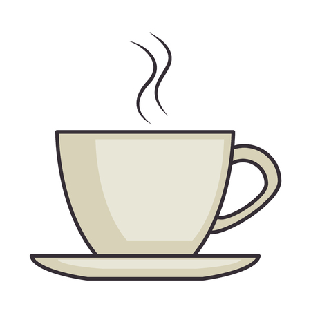 Ilustración de coffee cup isolated icon vector illustration design - Imagen libre de derechos