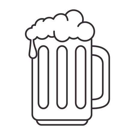 Illustration for beer jar isolated icon vector illustration design - Royalty Free Image