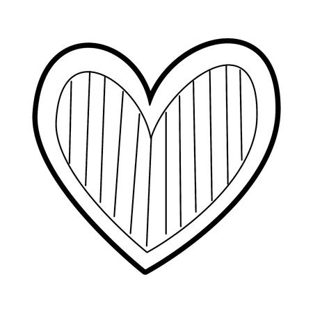 Illustration pour heart love romance passion decorate stripes vector illustration - image libre de droit