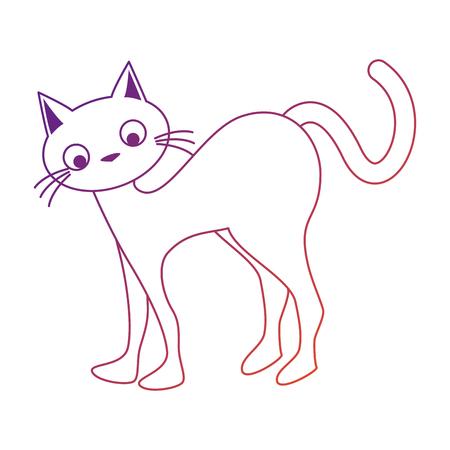 Ilustración de funny cute cat icon vector illustration design - Imagen libre de derechos