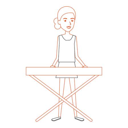 Ilustración de woman playing synthesizer character vector illustration design - Imagen libre de derechos