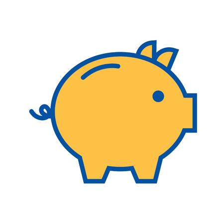 Illustration for piggy bank safety money investment commerce vector illustration - Royalty Free Image
