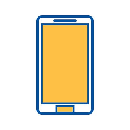 Illustration pour mobile phone device technology wireless icon vector illustration - image libre de droit