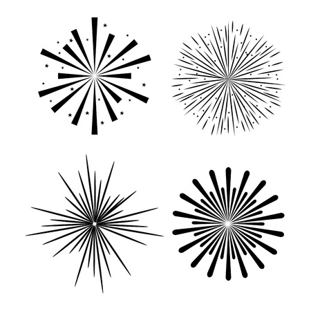 Illustration for sunburst decorative set icons vector illustration design - Royalty Free Image