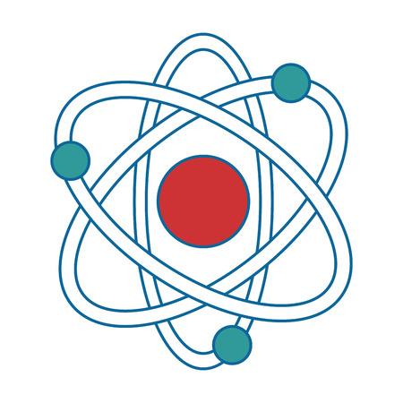 Illustration pour atom molecule isolated icon vector illustration design - image libre de droit
