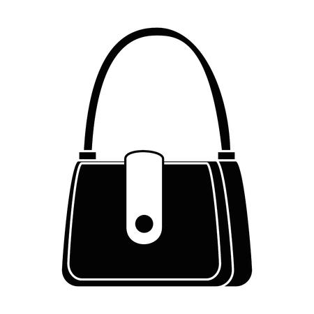 Ilustración de female handbag elegant icon vector illustration design - Imagen libre de derechos