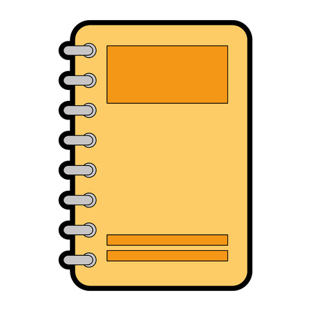 Ilustración de notebook with tabs icon vector illustration design - Imagen libre de derechos